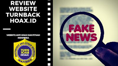 Review Website turnbackhoax.id, Agar Tidak Mudah Termakan Hoax