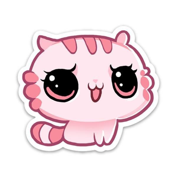 dibujo gato rosa