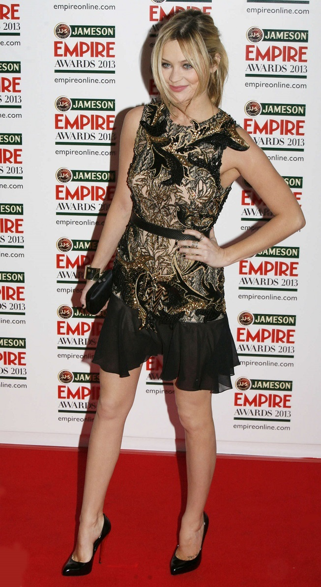 Laura Whitmore poses at 2013 Jameson Empire Awards
