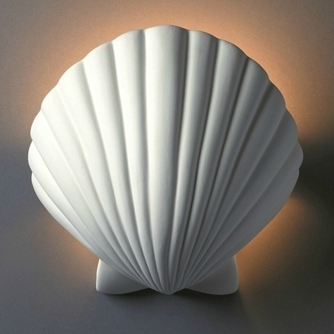 White Shell Wall Sconce