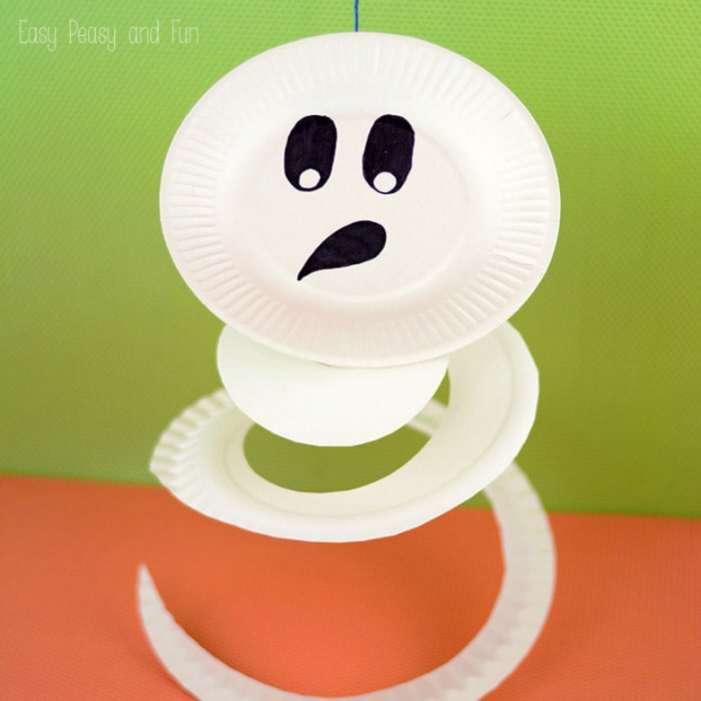 paper plate ghost by easy peasy fun - Ghost crafts for kids