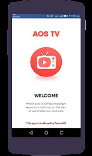 يل تطبيق TV AOS لمشاهدة القنوات الرياضية المشفرة العربية و العالمية