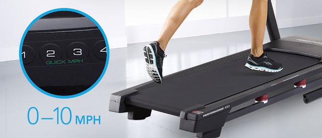 ProForm Performance 400i Treadmill speed