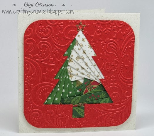 crafting crumbs  simple iris folding holiday cards