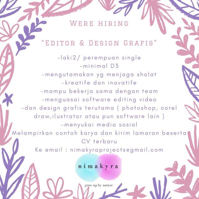 Loker Editor / Design Grafis Bandung
