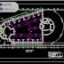 مخطط تفصيل التسليح والهيكل لقاعة عرض اوتوكاد dwg