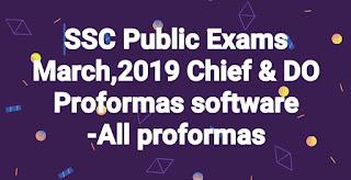 SSC Public Exams March,2019 Chief & DO Proformas software -All proformas (for A.P & Telangana)