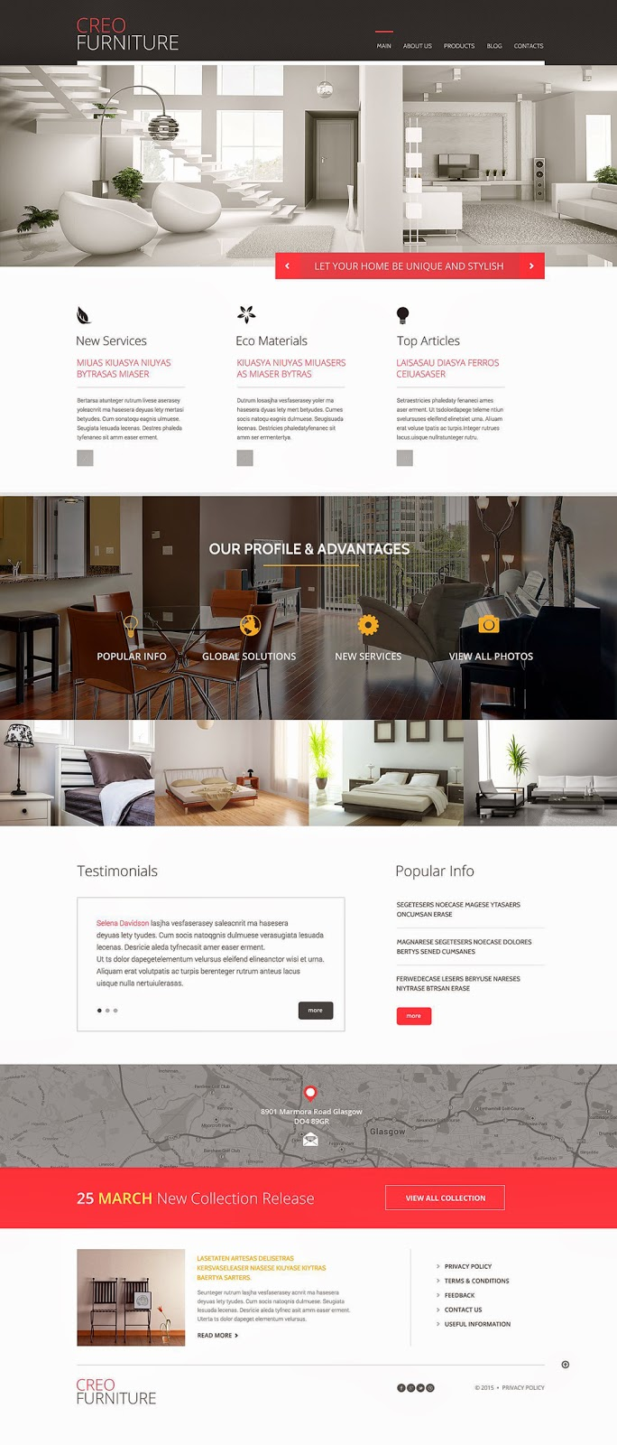 Download Free Furniture Responsive WordPress Theme