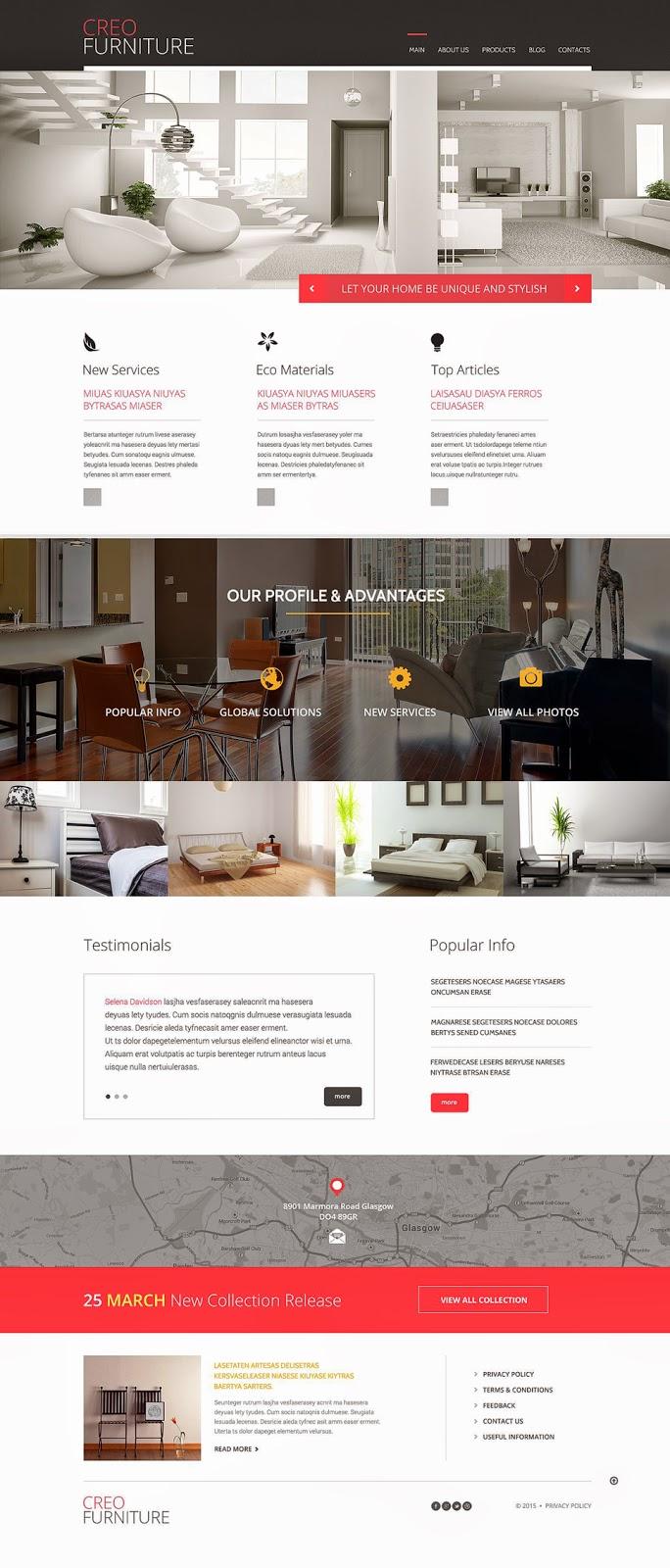 Download Free Furniture Responsive WordPress Theme