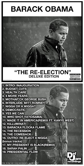 Lustiges Musik CD Cover mit Obama - Obamas beste Sprüche