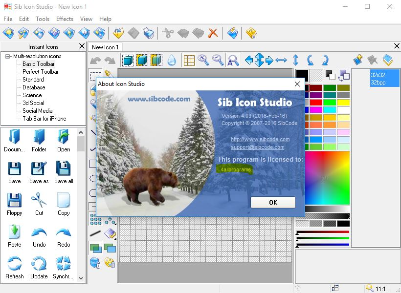 Sib Icon Studio v4.03 Full + Serial Keys | All Programs