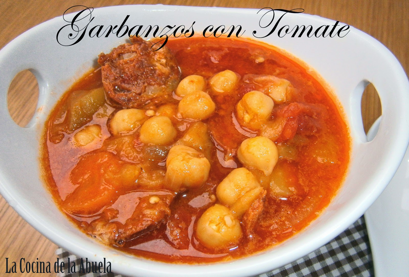 Garbanzos con Tomate.