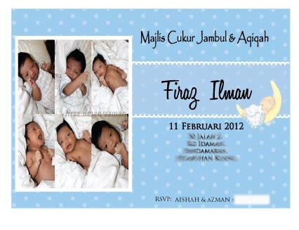 Wishing Favours Aqiqah Favors For Baby Firas Ilman