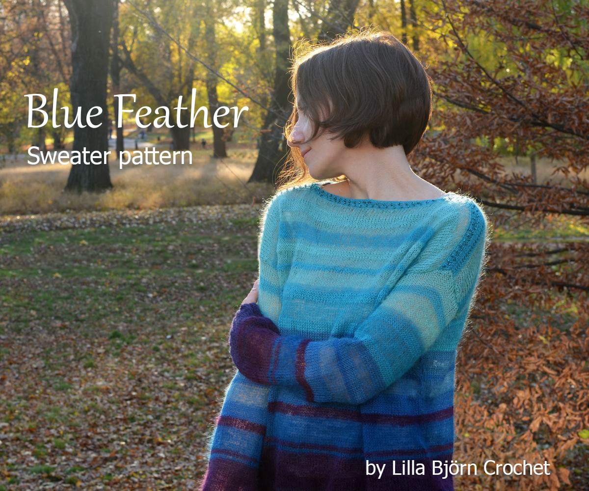 395731983 Blue Feather Sweater  tutorial