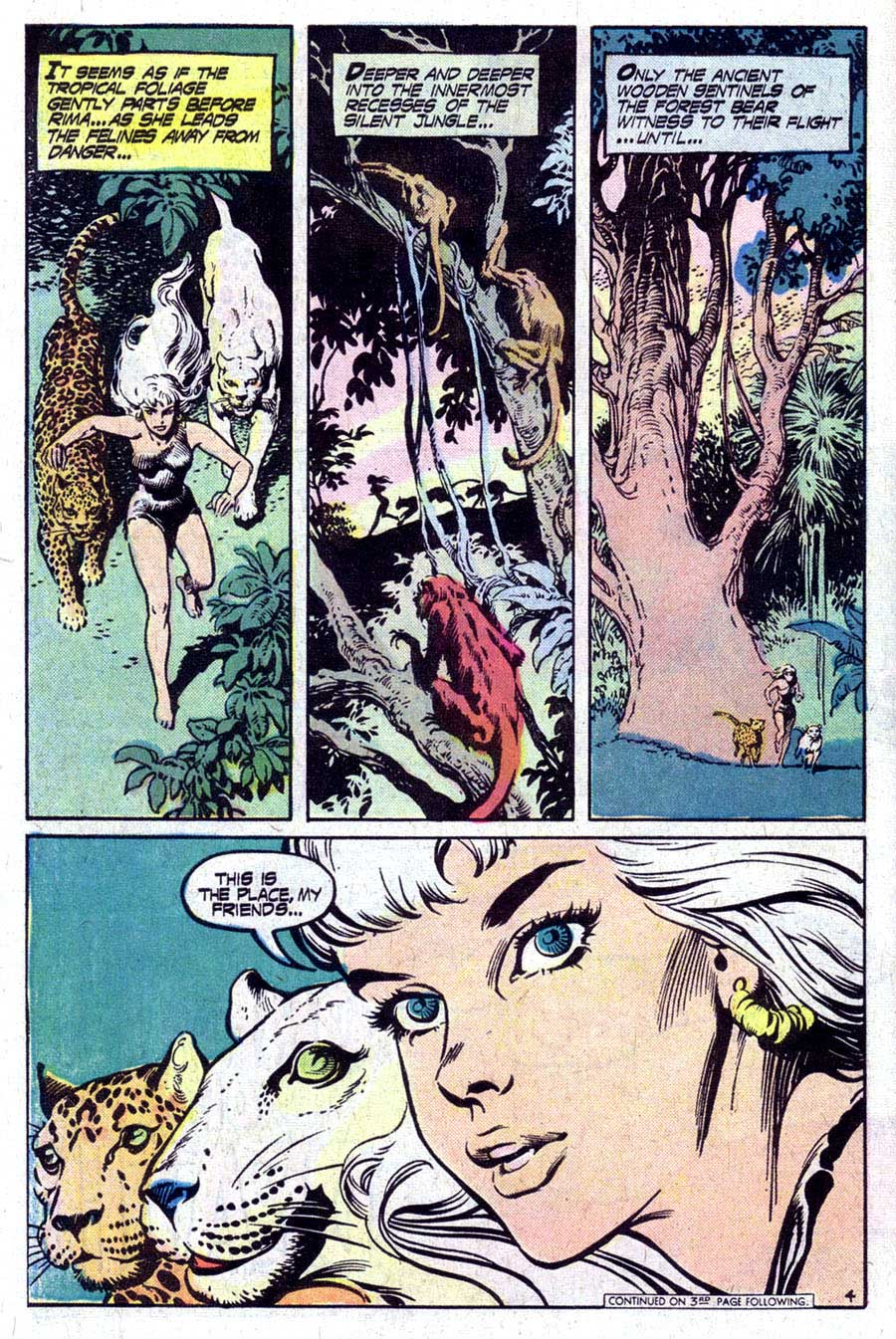 Rima the Jungle Girl v1 #6 dc bronze age comic book page art by Nestor Redondo