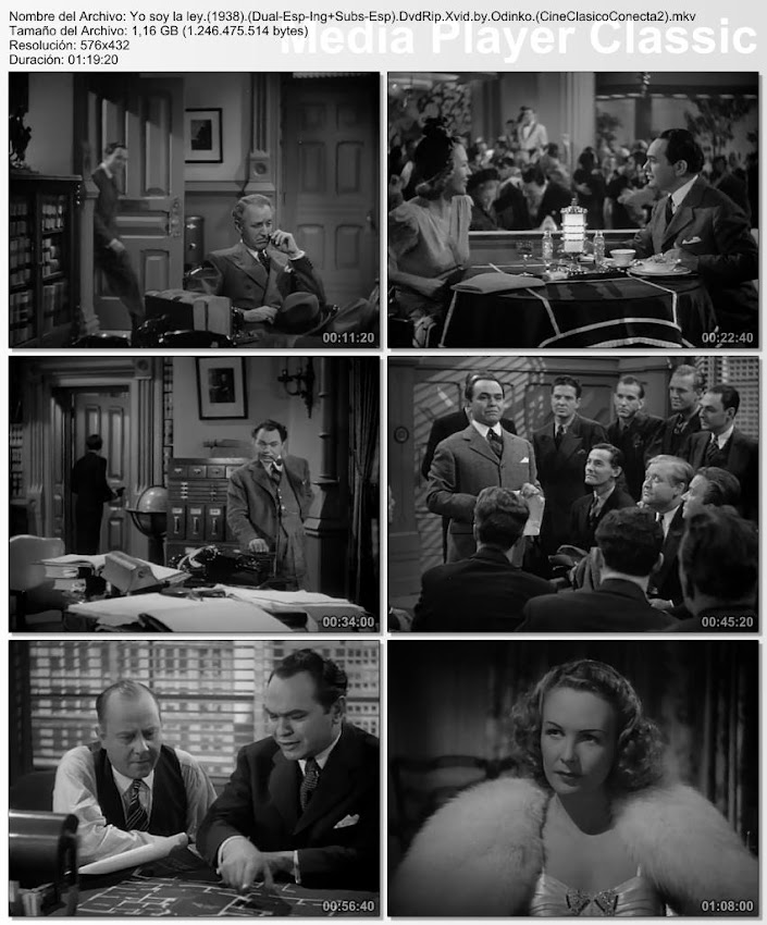 Imagenes de la película, Yo soy la ley | 1938 | I Am the Law