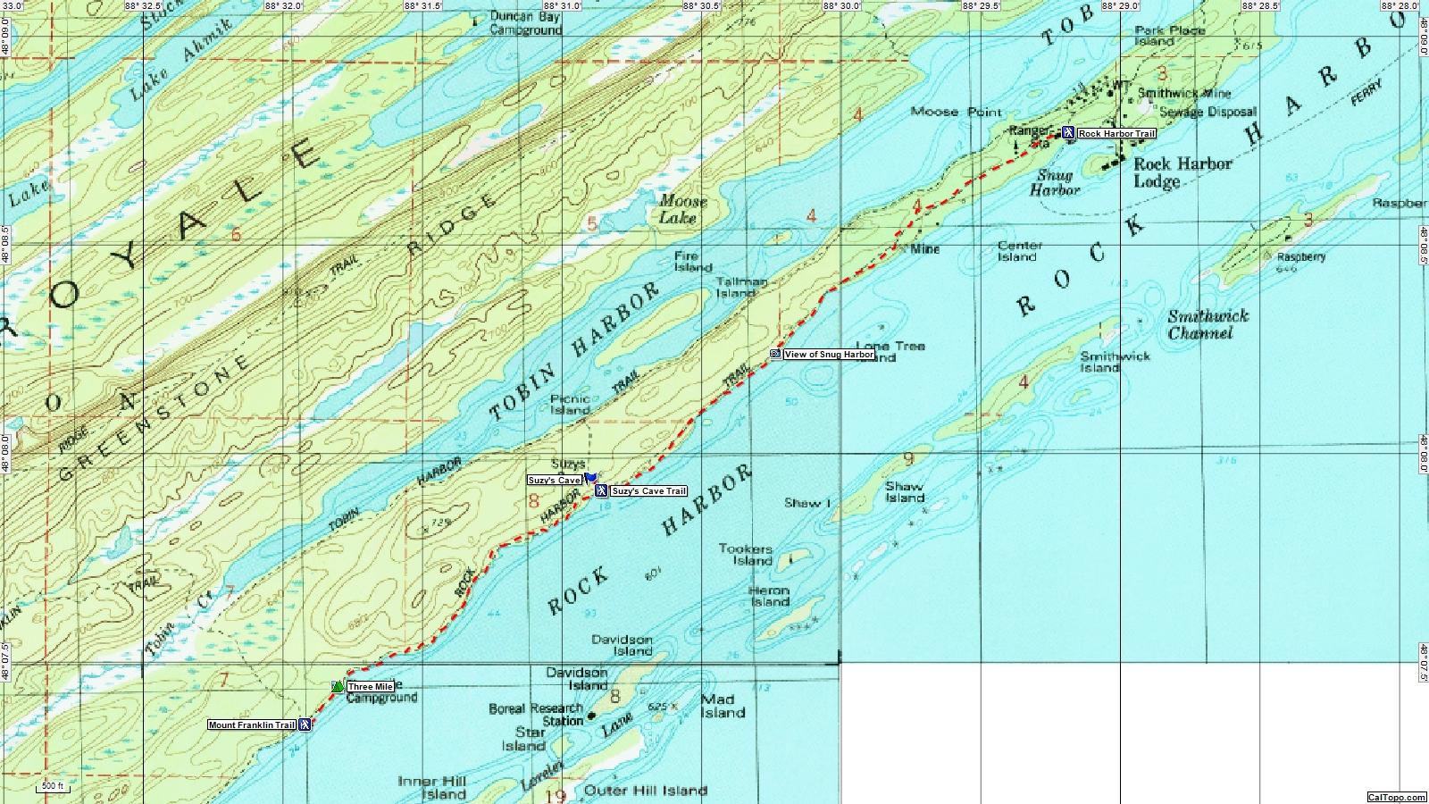 Isle Royale Map