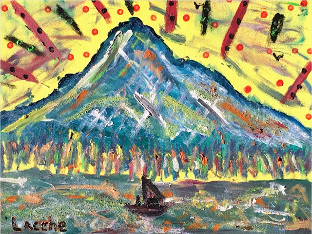 """Mt. Hood"" by Justin Lacche, 2017 12"" x 16"" oil"