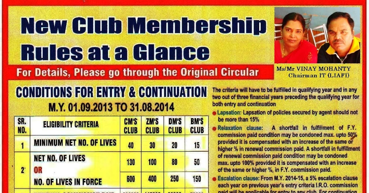 InsureRelaxInfo: NEW CLUB MEMBERSHIP RULES AT A GLANCE