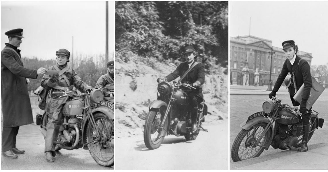 Fascinating Photos of Britain's Female Dispatch Riders During World War II