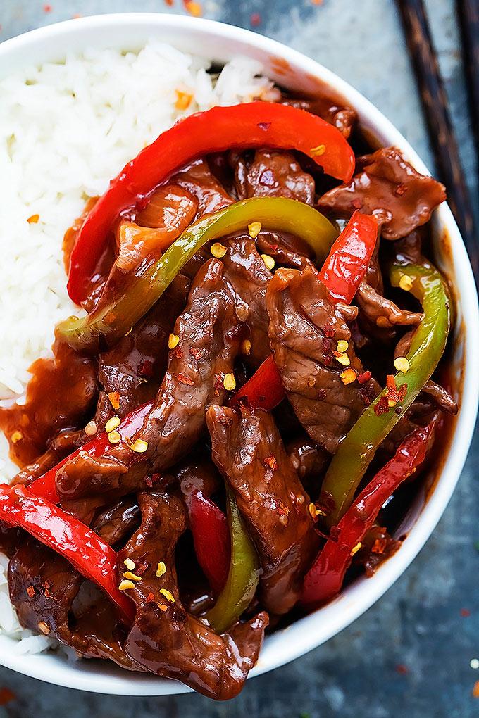 #Recipe : 20 Minute Beijing Beef