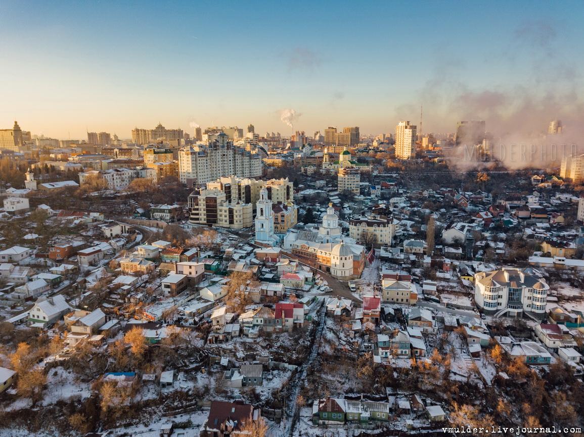 Зимний Воронеж с воздуха