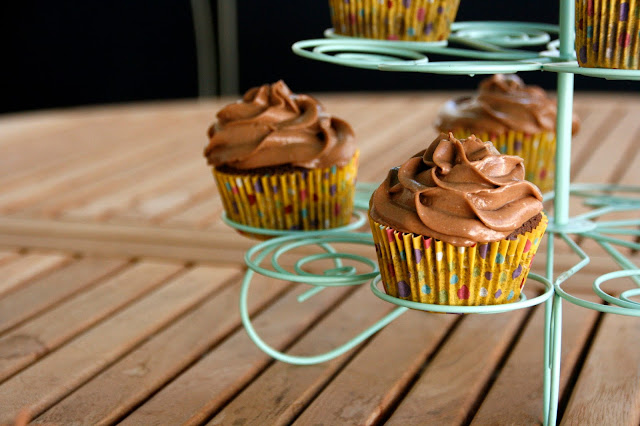 Cupcakes de xocolata amb cheescream de nutella