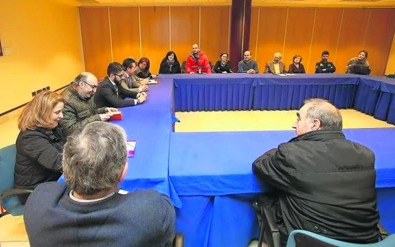 Reunión del Ayuntamiento con comerciantes