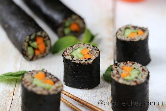 sushis , quinoa , vegan , végétarien , sans allergène #healthy #vegan