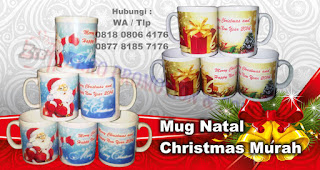 Mug Keramik Untuk Souvenir Natal