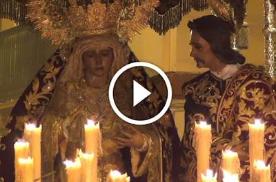Hermandad de la Amargura de Sevilla durante el Domingo de Ramos de la Semana Santa del año 2016 pasando por la Calle Cuna