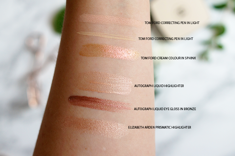 rose-gold-highlighter-swatches