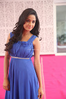 Divya Nandini stunning Beauty in blue Dress at Trendz Exhibition Launch ~  Celebrities Galleries 069.JPG