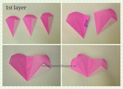 steps by steps making origami rose tutorial