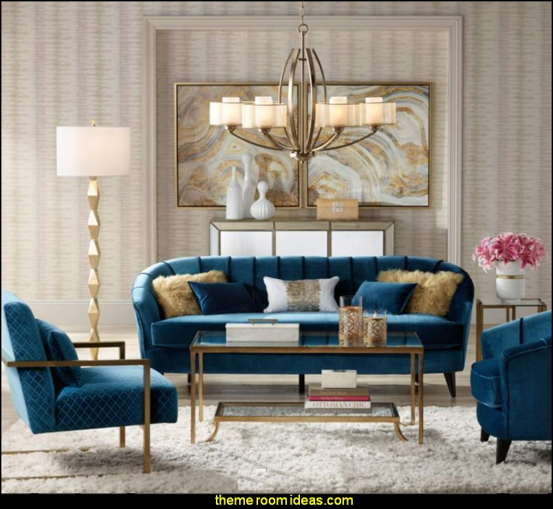 Decorating theme bedrooms maries manor hollywood glam for Glam modern living room