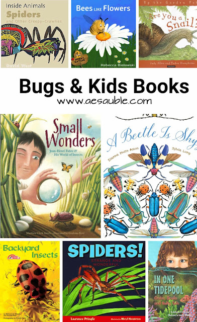 a collection of kids books about bugs