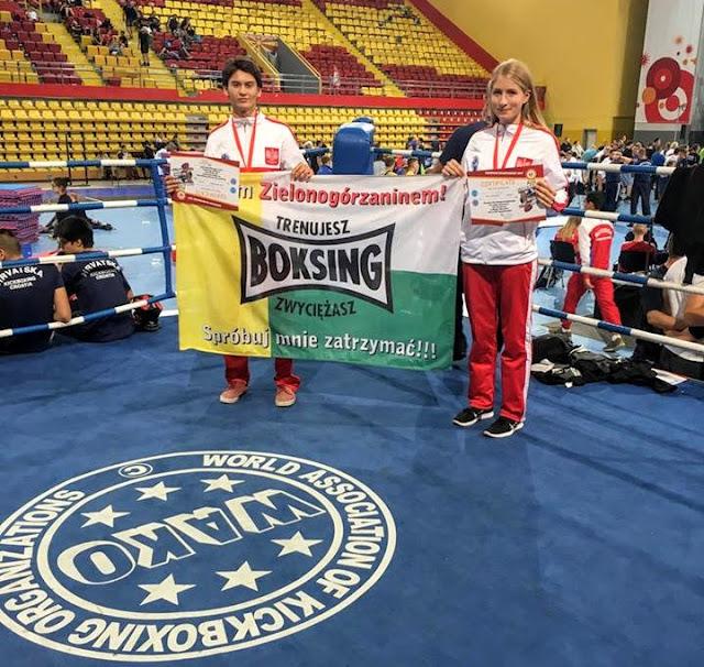 kickboxing, Mistrzostwa Europy, medale, 2017, Przemysław Kalisz, Maria Jackowska, WAKO, PZKB, full contact, low kick, Polska, Zielona Góra, Sport