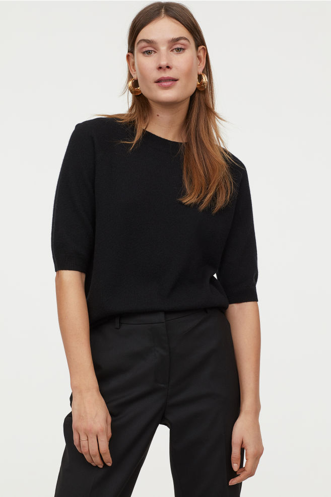 h an m short sleeved cashmere jumper