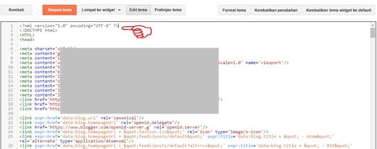 Arahkan Kursor pada Halaman Edit HTML