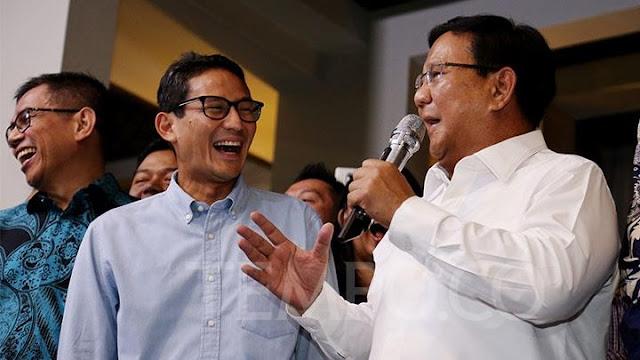 Kubu Prabowo Klaim Unggul 55,4 Persen Versi Exit Poll Internal