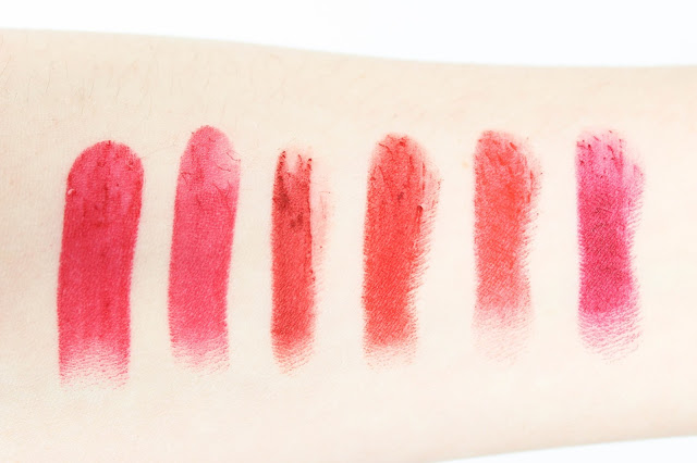 Red Lipstick Drugstore No7 Revlon L'oreal Maybelline Rimmel Swatches Review 4