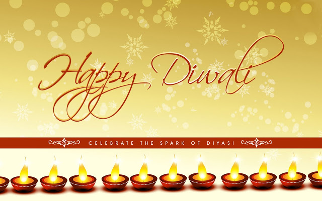 Happy Diwali Diyas HD Desktop Wallpaper