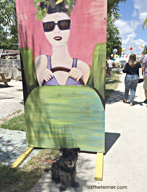 local artist display at Lola's in Wilton Manors Florida