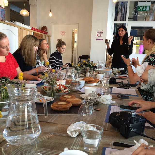 TempleSpa workshop at the get the label blogger brunch manchester