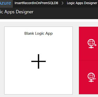 create logic app blank template