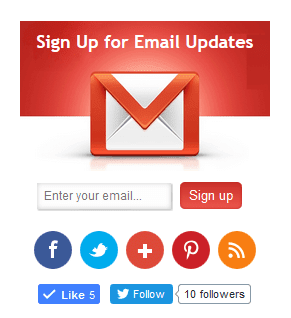 Stylish email subscription widget for blogger