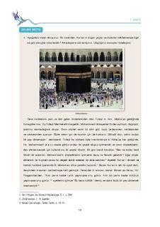 9. Sınıf Kuranı Kerim Ders Kitabı Cevapları Tutku Yayınları Sayfa 16