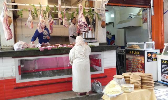 Souk in Marrakesch - Fleischer
