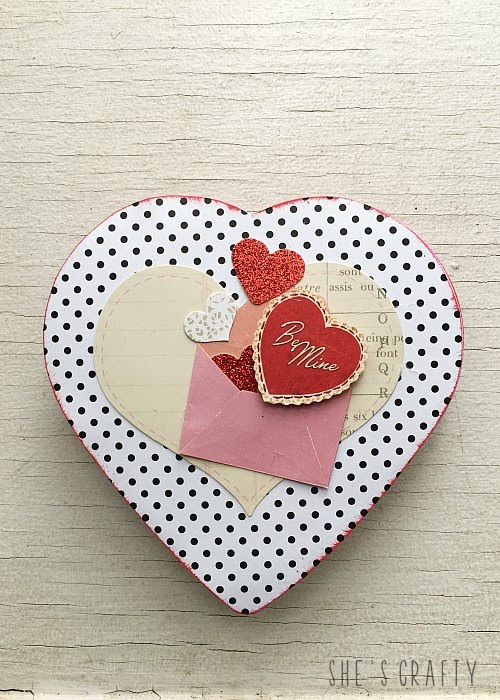 How to makeover a dollar store Valentine Chocolate Box