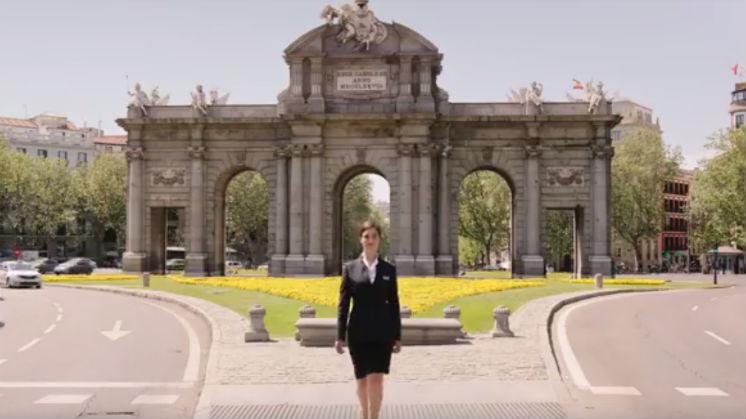 Video de seguridad de Iberia